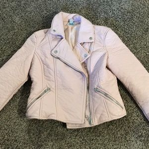 Light pink faux leather jacket